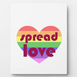 Spread Gay Love Plaque