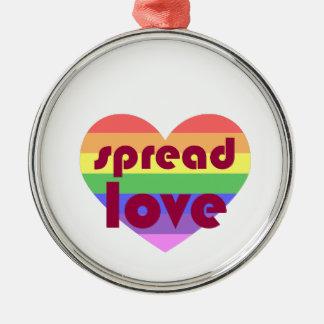 Spread Gay Love Silver-Colored Round Ornament