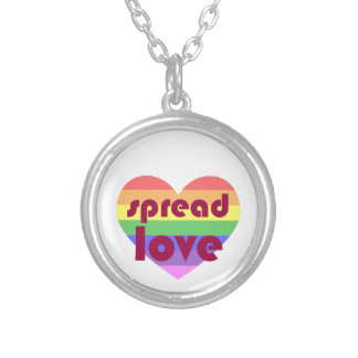 Spread Gay Love Silver Plated Necklace