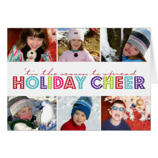 Spread Holiday Cheer 6 Photo Folded Christmas Card