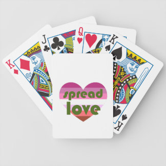 Spread Lesbian Love Bicycle Playing Cards