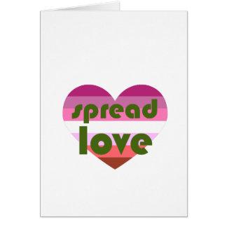 Spread Lesbian Love Card