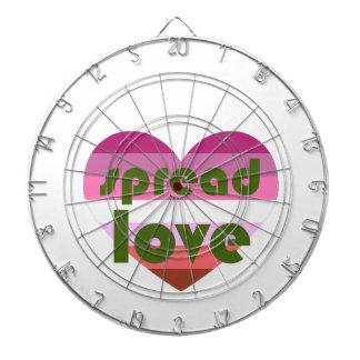 Spread Lesbian Love Dartboard