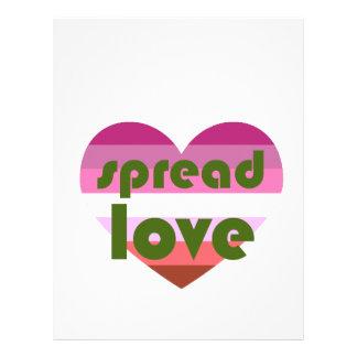 Spread Lesbian Love Letterhead