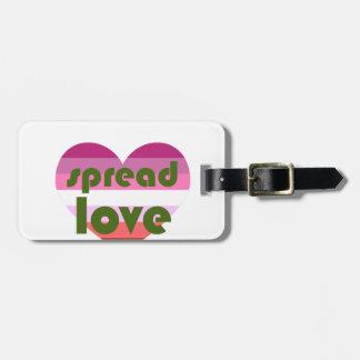 Spread Lesbian Love Luggage Tag
