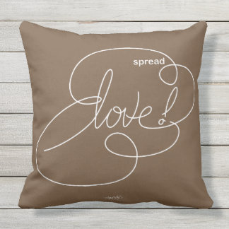 spread LOVE -  Bold CloudS - W Outdoor Pillow