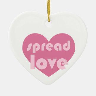 Spread Love (general) Ceramic Ornament