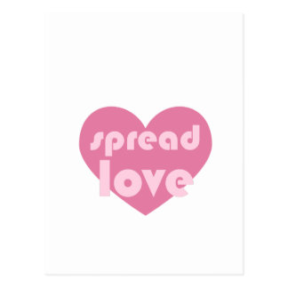Spread Love (general) Postcard