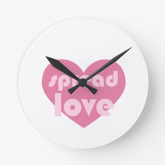 Spread Love (general) Round Clock