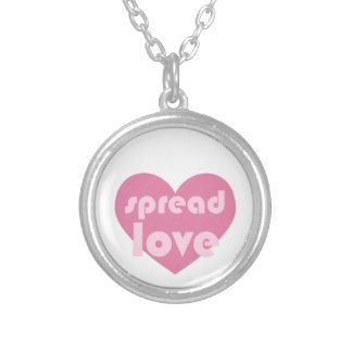Spread Love (general) Silver Plated Necklace