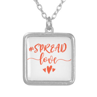 Spread love silver plated necklace