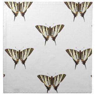 spread out butterflies napkin