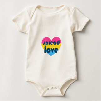 Spread Pansexual Love Baby Bodysuit