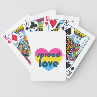 Spread Pansexual Love Bicycle Playing Cards