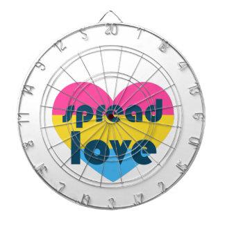 Spread Pansexual Love Dartboard