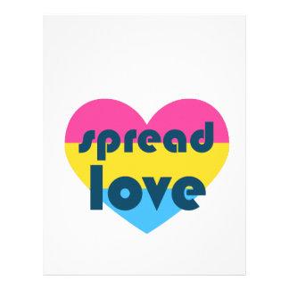 Spread Pansexual Love Letterhead Design