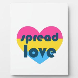 Spread Pansexual Love Plaque
