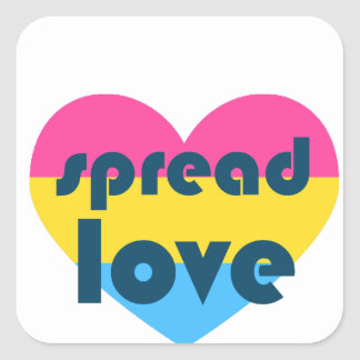 Spread Pansexual Love Square Sticker