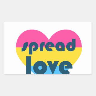 Spread Pansexual Love Sticker