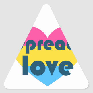Spread Pansexual Love Triangle Sticker