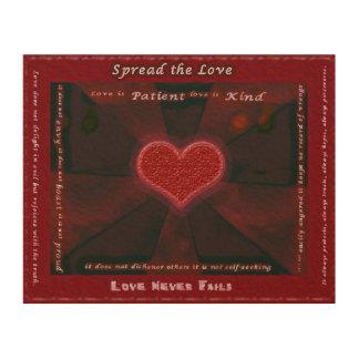 Spread the Love 8x10 Wood Wood Prints