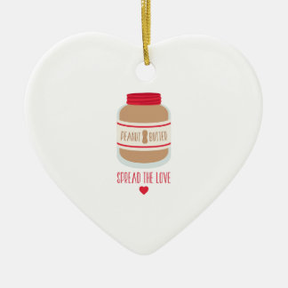 Spread The Love Ceramic Ornament