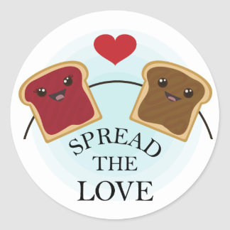 SPREAD THE LOVE CLASSIC ROUND STICKER