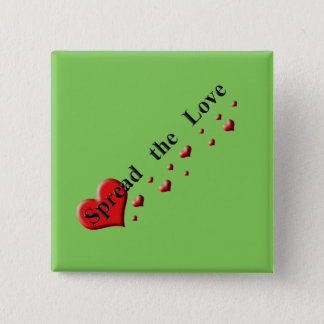 Spread the Love Green Events 2 Inch Square Button