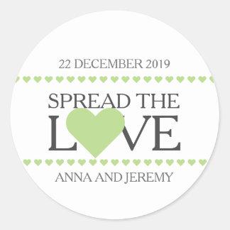 Spread the love sticker wedding favors jam honey