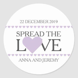 Spread the love sticker wedding favors jam honey