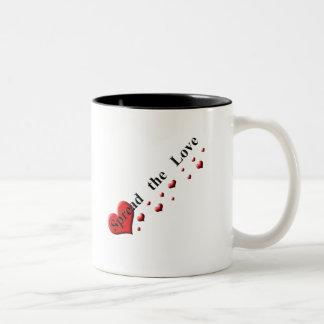 Spread the Love Two-Tone Coffee Mug