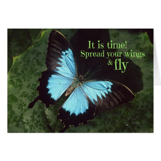 Spread your Wings and Fly Butterfly (Poem Inside) Card