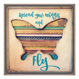Spread your Wings and Fly Inspirational Cardstock Card