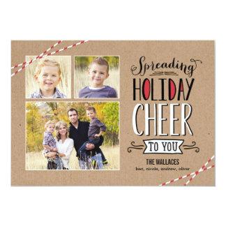 Spreading Cheer Holiday Photo Card