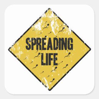 Spreading life square sticker
