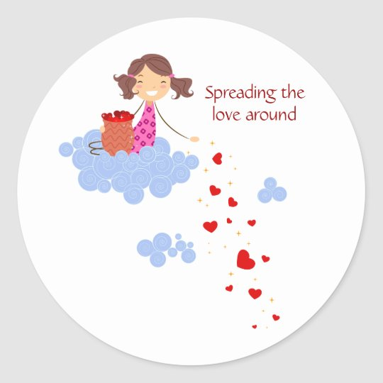 Spreading the Love Around Classic Round Sticker