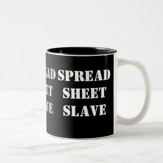 Spreadsheet Slave - Office Worker Insult Nickname Two-Tone Coffee Mug