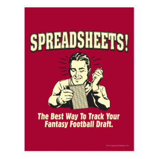 Spreadsheets: Track Your Fantasy Football Draft Postcard