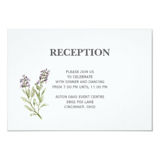 Sprig Reception Card Any Color Background