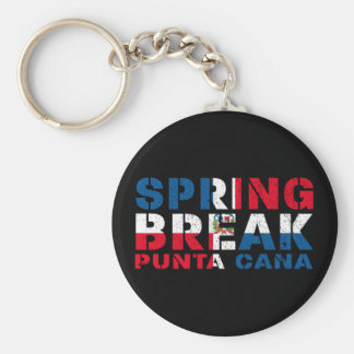 Sprin Break Punta Cana Dominican Republic Basic Round Button Keychain