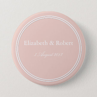 Spring 2017 Designer Colors Pale Pink Dogwood 3 Inch Round Button
