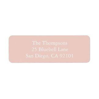 Spring 2017 Designer Colors Pale Pink Dogwood Return Address Label