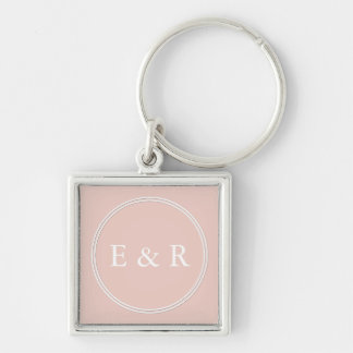 Spring 2017 Designer Colors Pale Pink Dogwood Silver-Colored Square Keychain