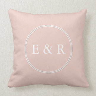 Spring 2017 Designer Colors Pale Pink Dogwood Throw Pillow