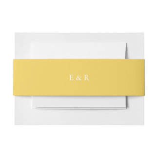 Spring 2017 Designer Colors Primrose Yellow Invitation Belly Band