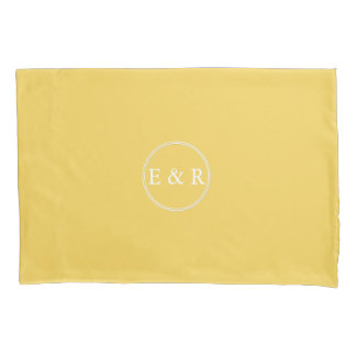 Spring 2017 Designer Colors Primrose Yellow Pillowcase