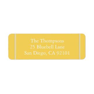 Spring 2017 Designer Colors Primrose Yellow Return Address Label