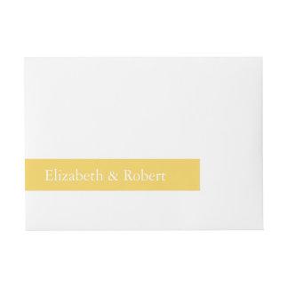 Spring 2017 Designer Colors Primrose Yellow Wraparound Address Label