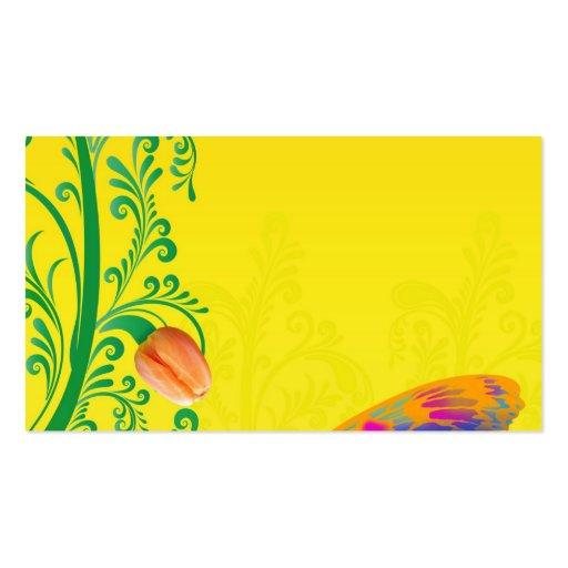 spring-256697 BRIGHT YELLOW-ORANGE BACKGROUND SPRI Business Card
