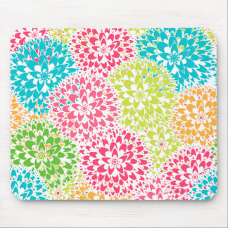 Spring Abstract Flowers Mouse Pad